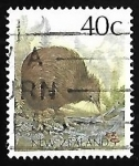 Stamps New Zealand -  Brown Kiwi