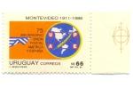 Stamps Uruguay -  75 ANIVERSARIO UNION POSTAL AMERICA Y ESPAÑA