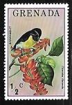 Sellos de America - Granada -  Aves y flores