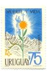 Stamps of the world : Uruguay :  MUERTE Y VIDA TRAGEDIA DE LOS ANDES