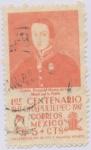 Stamps : America : Mexico :  1er. Centenario de la Batalla de Chapultepec
