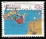 Sellos de Oceania - Australia -  Monopatín