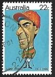 Stamps Australia -  Jockey - Darby MUNRO