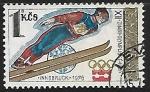 Stamps Czechoslovakia -   Saltos de Esquí