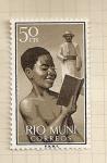 Stamps Spain -  Rio Muni, Niño imdígena
