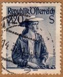 Sellos de Europa - Austria -  TRAJE REGIONAL FEMENINO –JSCHL 1820