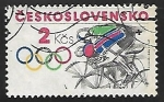 Sellos de Europa - Checoslovaquia -  Juegos Olímpicos - ciclismo