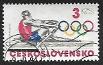 Stamps Czechoslovakia -  Juegos olimpicos - remo