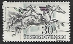 Sellos de Europa - Checoslovaquia -  Carrera de Caballos