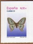 Sellos de Europa - España -  COL-FAUNA: MARIPOSA (GRAELLSIA ISABELAE)