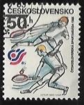 Sellos de Europa - Checoslovaquia -  Tenis