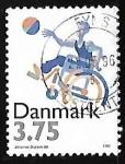 Sellos de Europa - Dinamarca -  Baloncesto   Discapacitados