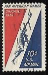 Stamps United States -  Juegos Panamericanos