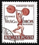 Sellos de Europa - Hungría -  Halterofilia