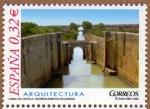 Sellos de Europa - España -  COL-ARQUITECTURA: CANAL DE CASTILLA (PALENCIA-BURGOS-VALLADOLID)