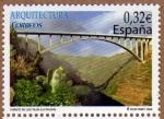 Stamps Spain -  COL-ARQUITECTURA: PUENTE DE LOS TILOS (LA PALMA)