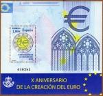 Stamps Spain -  COL-HB X ANIVERSARIO DE LA CREACIÓN DEL EURO