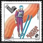 Stamps : Europe : Hungary :  Juegos olimpicos - esqui