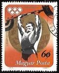 Stamps Hungary -  Halterofilia