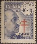 Sellos de Europa - España -  General Franco Pro Tuberculosos  1940  40+10 cts