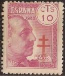 Sellos de Europa - España -  General Franco Pro Tuberculosos  1940 Aéreo 10 cts