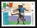 Sellos de Asia - Laos -  Copa mundial de football