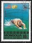 Sellos de Asia - Mongolia -  Juegos Olímpicos   Natación