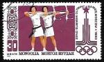 Stamps : Asia : Mongolia :  Juegos Olímpicos | Tiro con Arco