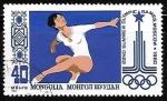 Sellos del Mundo : Asia : Mongolia : Gimnasia | Juegos Olímpicos