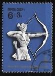 Stamps Russia -  Juegos Olímpicos - arco y flecha