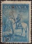 Stamps : Europe : Romania :  Carlos II a caballo   1932  10 lei