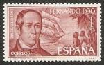 Sellos de Africa - Guinea Ecuatorial -  Fernando Poo - 222 - Día del Sello, Gobernador Chacón