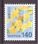 Stamps : Asia : Japan :  serie- flores