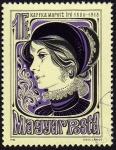 Sellos de Europa - Hungría -  INT-ANIVERSARIO NACIMIENTO DE MARGIT KAFFKA (1880-1918)