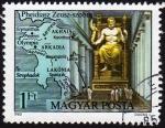 Sellos de Europa - Hungría -  INT-MAPA DE GRECIA CLÁSICA