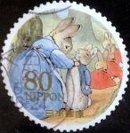 sellos de Asia - Japón -  Scott#3317d Intercambio 0,90 usd  80 y. 2011