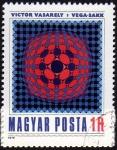 Stamps Hungary -  COL-PINTURA DE VICTOR VASARELY