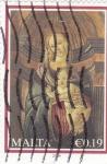 Sellos de Europa - Malta -   Virgen y Niño Jesús
