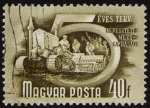 Sellos de Europa - Hungría -  COL-COSECHADORA