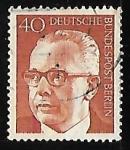 Stamps Germany -  Dr. h.c. Gustav Heinemann