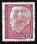 Sellos de Europa - Alemania -  President Lübke, Heinrich