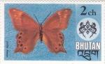 Sellos de Asia - Bhután -  Mariposa