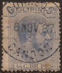 Stamps : Asia : Philippines :  Alfonso XII  1880  2 4/8 cent de peso