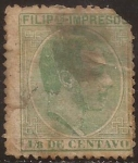 Stamps : Asia : Philippines :  Alfonso XII. Impresos  1886  1/8 centavos