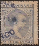 Stamps : Asia : Philippines :  Alfonso XIII  1892  2 cent de peso