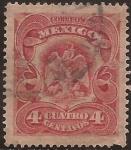 Sellos de America - México -  Escudo de Armas  1903  4 cents