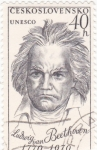 Stamps Czechoslovakia -  Ludvig Van Beethoven 200 aniversario