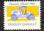 Sellos de America - Uruguay -  CAMION POSTAL 1921