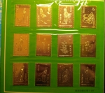Stamps : Asia : China :  China 1981 紅樓夢 Dream of Red Mansion GOLD- PLATING stamps