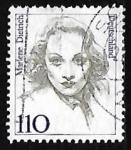 Sellos de Europa - Alemania -  Marlene Dietrich (1901-1992), actriz y cantora